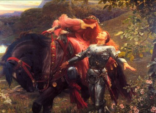 Frank Dicksee. La Belle Dame Sans Merci, 1902. Image from Wikimedia Commons.
