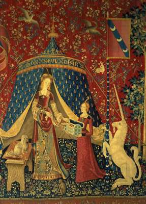 """To My Only Desire."" The Lady and the Unicorn. Image copyright Musée national du Moyen Âge."
