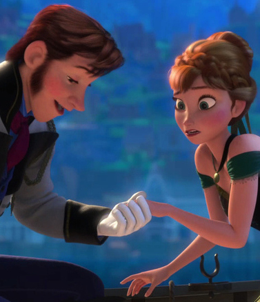 I have never met a person who could completely cover my hands in theirs. I'd be making that face, too. Image from Frozen via Family Inequality.