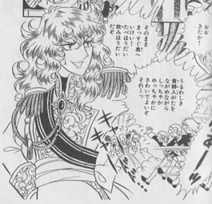 Oscar Françoise de Jarjeyes: cross-dressing BAMF. Ikeda Riyoko, The Rose of Versailles, vol. 3, p. 296.