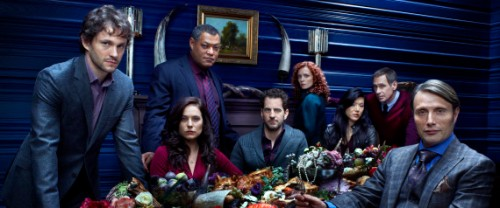 Image: the main cast of NBC Hannibal