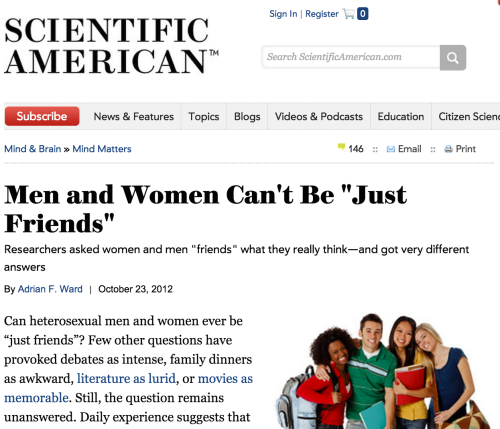 [Image: Scientific American, Headline reads