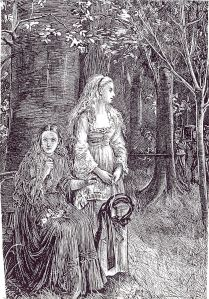 Illustration by Michael Fitzgerald for Le Fanu's story Carmilla in The Dark Blue (January 1872), electrotype after wood-engraving, reproduced in Best Ghost Stories, ed. Bleiler. Source