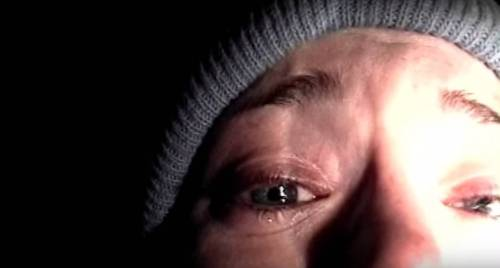 Image: Heather Donahue wearing a beanie, crying, speaking into a camera with the focus on her right eye. Via Broadly.